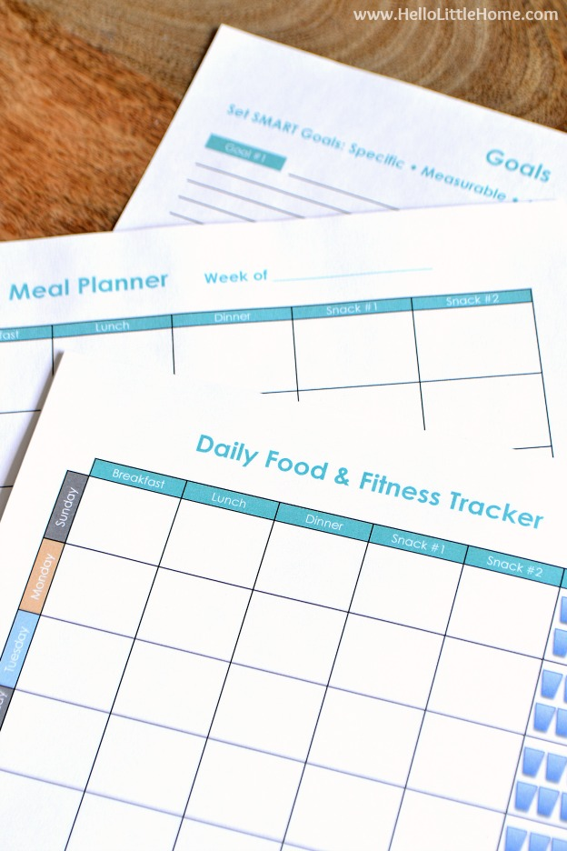 photograph about Meal Tracker Printable known as Totally free Printable Foodstuff and Health Magazine Hello there Small Residence