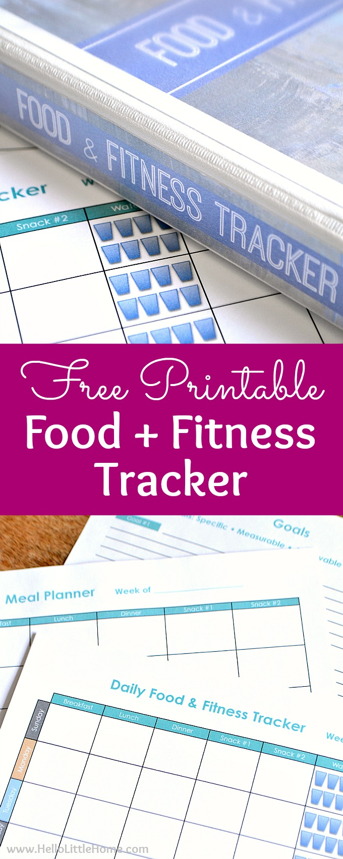 free printable food and fitness tracker