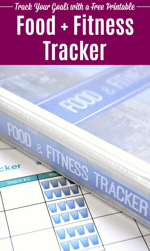 Free Printable Food and Fitness Tracker in a binder.