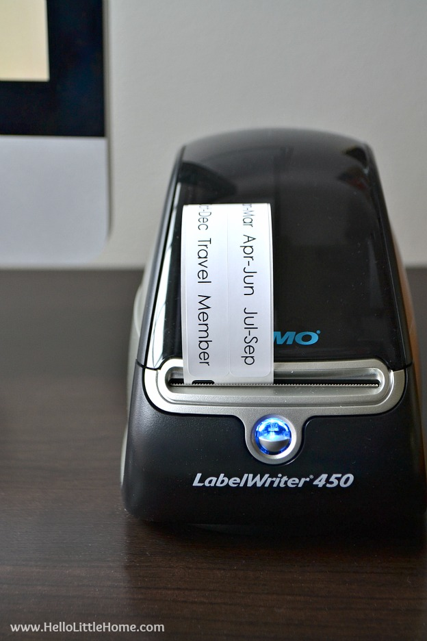 Step-by-step instructions for using the DYMO LabelWriter 450 to organize receipts for taxes! | Hello Little Home