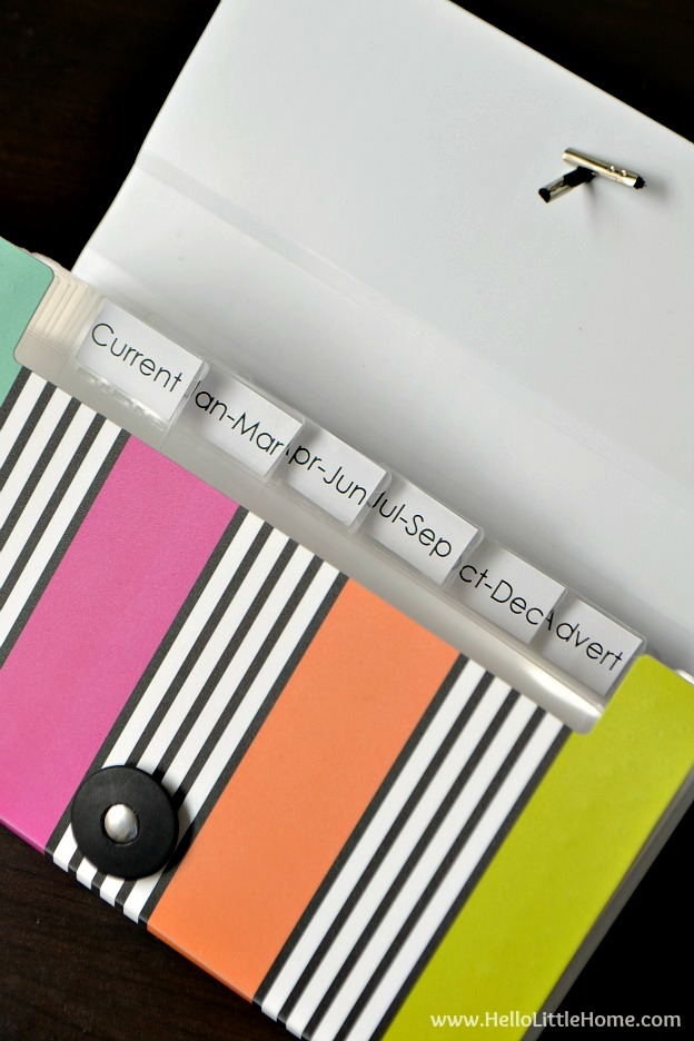 Learn how to organize receipts for tax time ... it's easy with these tips!   Hello Little Home