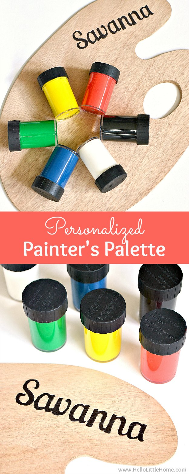 DIY Personalized Painter's Palette for Kids ... the perfect easy DIY gift idea for creative children! | Hello Little Home