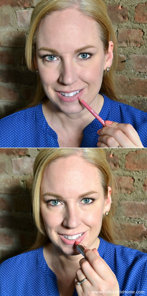 Brighten up your look with this Rosey Eyes and Lips Makeup Tutorial! Hello Little Home