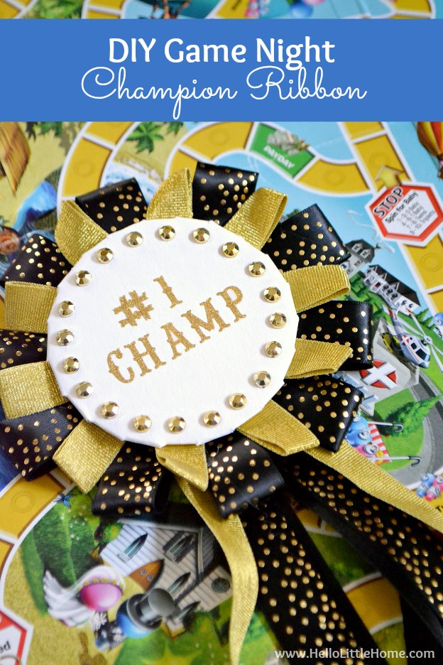 Diy Game Night Champion Ribbon