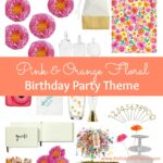 Celebrate someone special with this Pink and Orange Floral Birthday Party Theme! The cute party decor works for other ocassions, too! | Hello Little Home