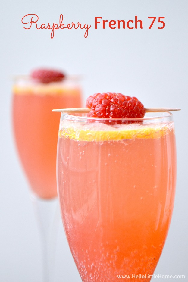 ... Raspberry French 75 ... an amazing twist on the classic French 75