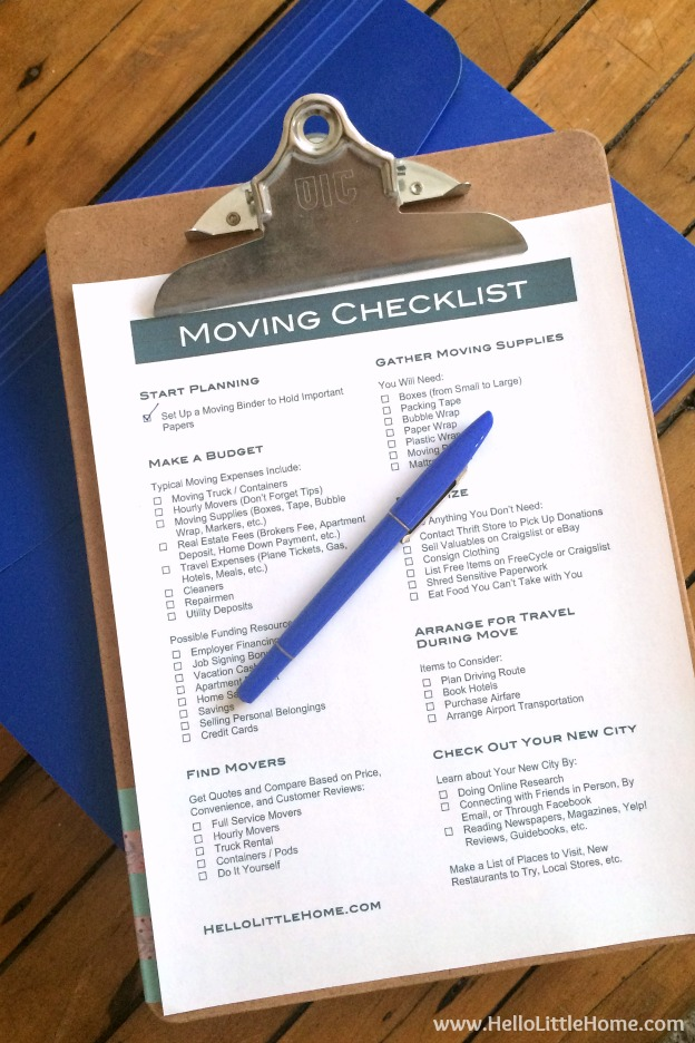 How To Plan A Big Move  Free Printable Moving Checklist