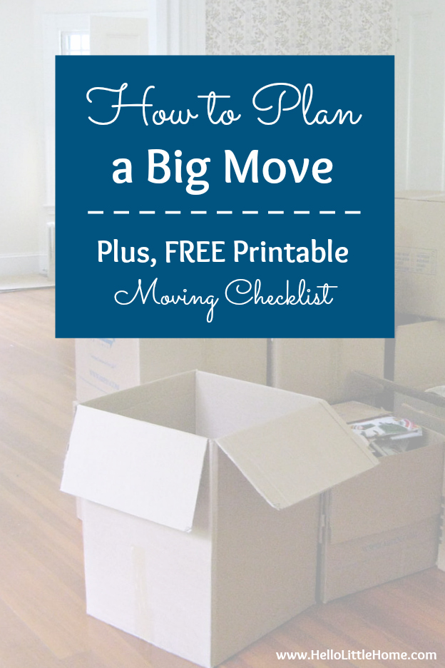 photo relating to Stay Organized With a Printable Moving Checklist named How in direction of Program a Large Transfer (Recommendations + Totally free Going Listing