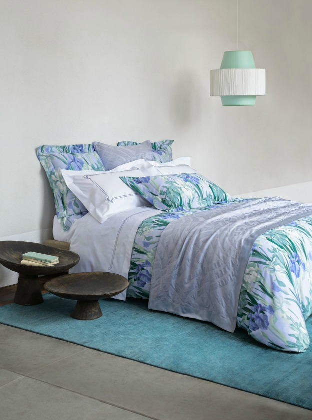 Learn how to create a luxurious bedroom retreat! (Iris Bed Linens from Frette) | Hello Little Home