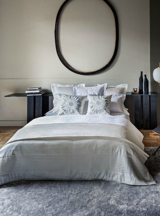 Learn how to create a luxurious bedroom retreat! (Marguerite Bed Linens from Frette) | Hello Little Home