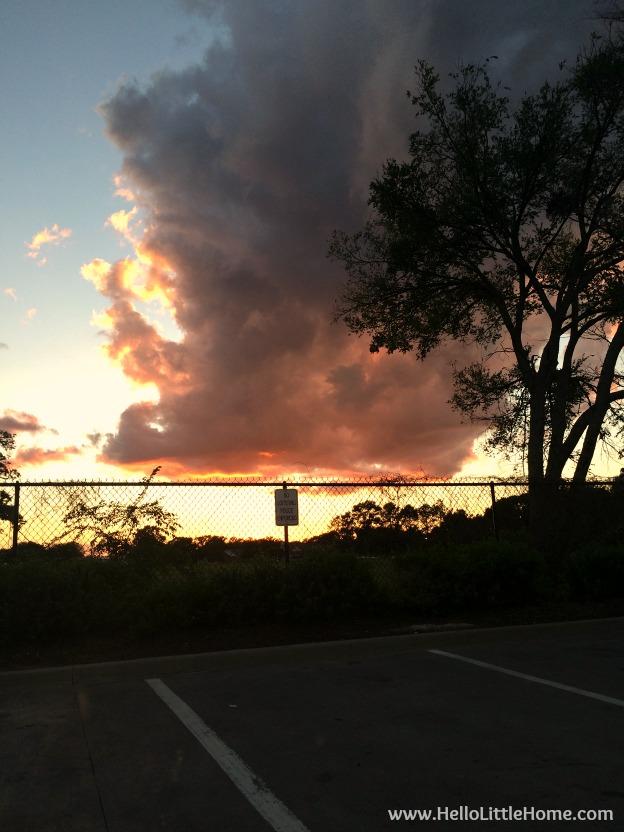 Parking Lot Sunset | Hello Little Home