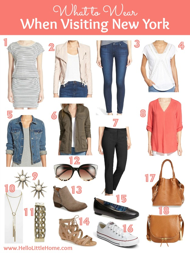 What to wear when visting New York ... a simple mix and match wardrobe.   Hello Little Home