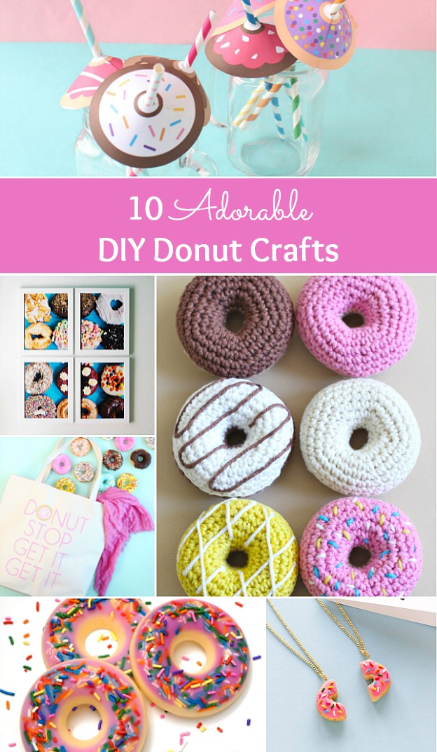 10 Adorable DIY Donut Crafts ... these donut projects are so cute, you won't know which one to make first! | Hello Little Home