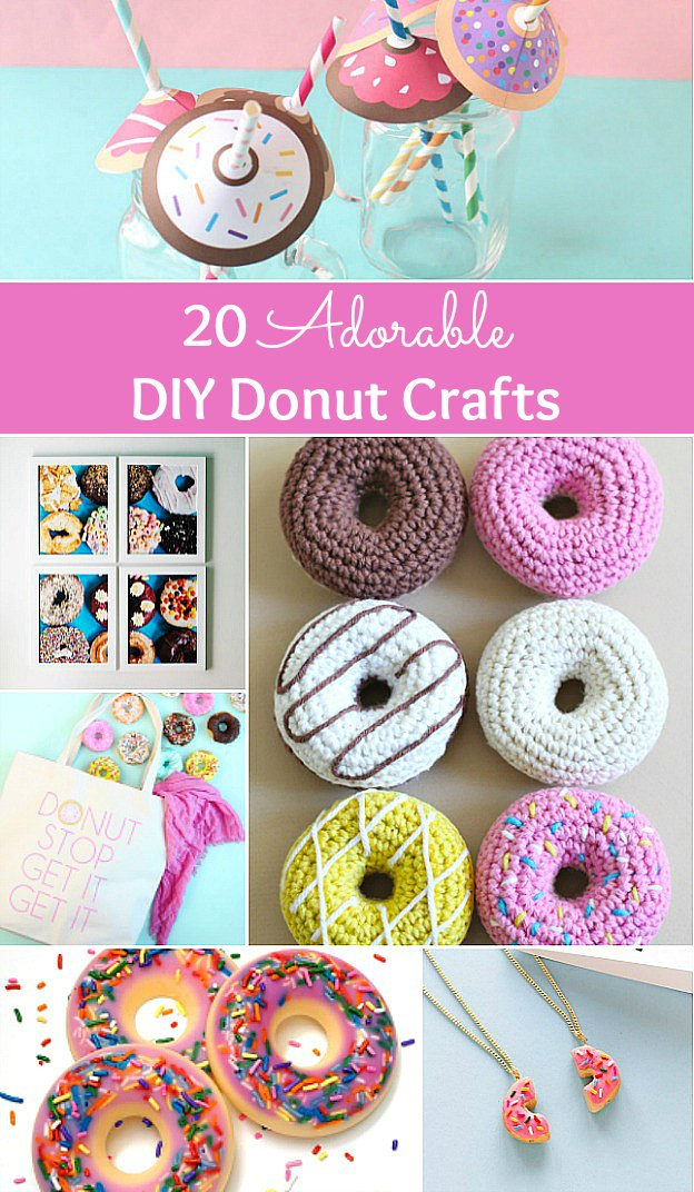 20 Adorable DIY Donut Crafts ... these donut projects are so cute, you won't know which one to make first! | Hello Little Home