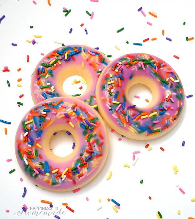 20 Adorable DIY Donut Crafts: DIY Donut Scented Soap from Happiness Is Homemade | Hello Little Home