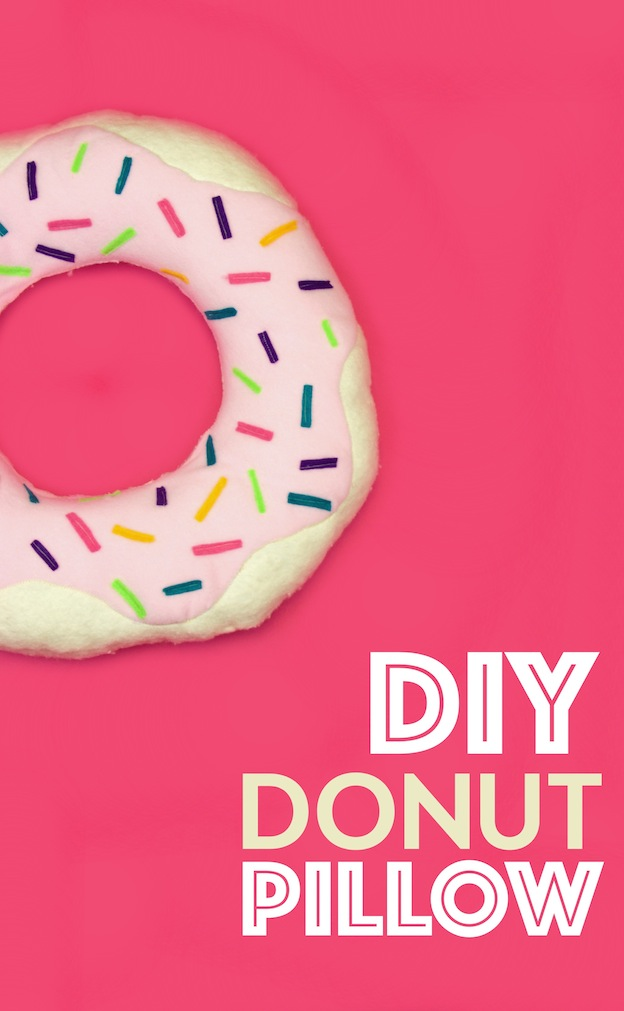 10 Adorable DIY Donut Crafts, like this Donut Pillow from A Little Craft in Your Day ... these donut projects are so cute, you won't know which one to make first! | Hello Little Home