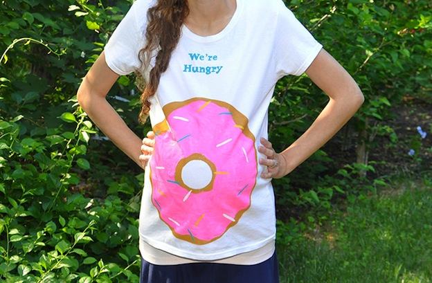 10 Adorable DIY Donut Crafts, like this Donut Tee from DIY Candy ... these donut projects are so cute, you won't know which one to make first! | Hello Little Home