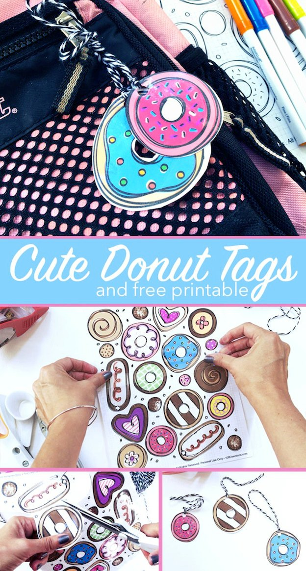 10 Adorable DIY Donut Crafts, like these Cute Tags from The Country Chic Cottage ... these donut projects are so cute, you won't know which one to make first! | Hello Little Home