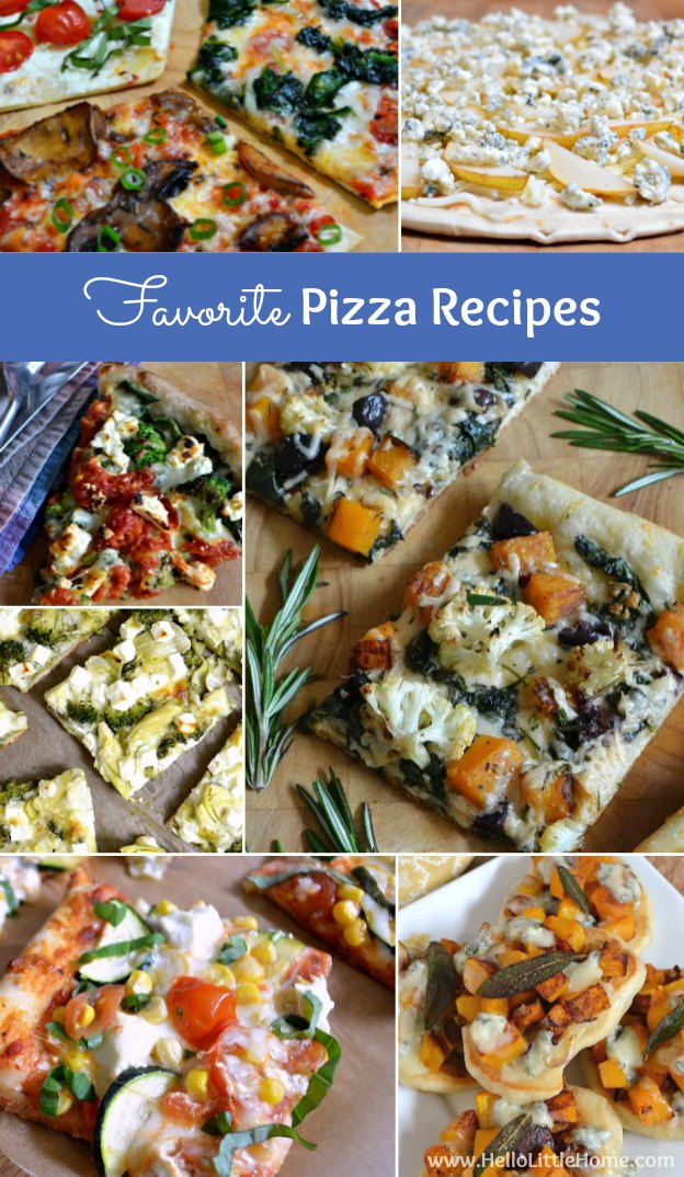 All my favorite pizza recipes + get my tips for throwing a homemade pizza party! | Hello Little Home