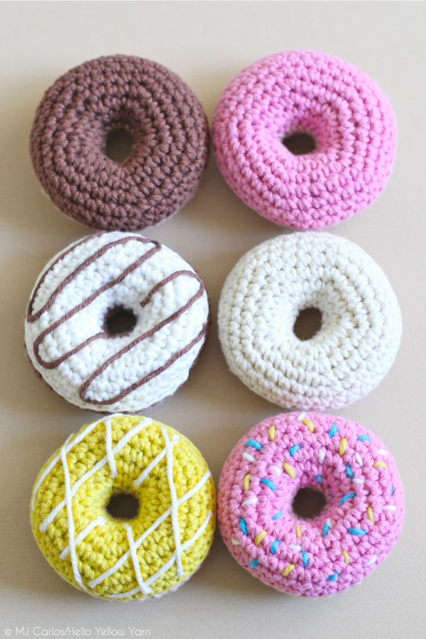 20 Adorable DIY Donut Crafts: Free Crochet Donut Pattern from Hello Yellow Yarn | Hello Little Home