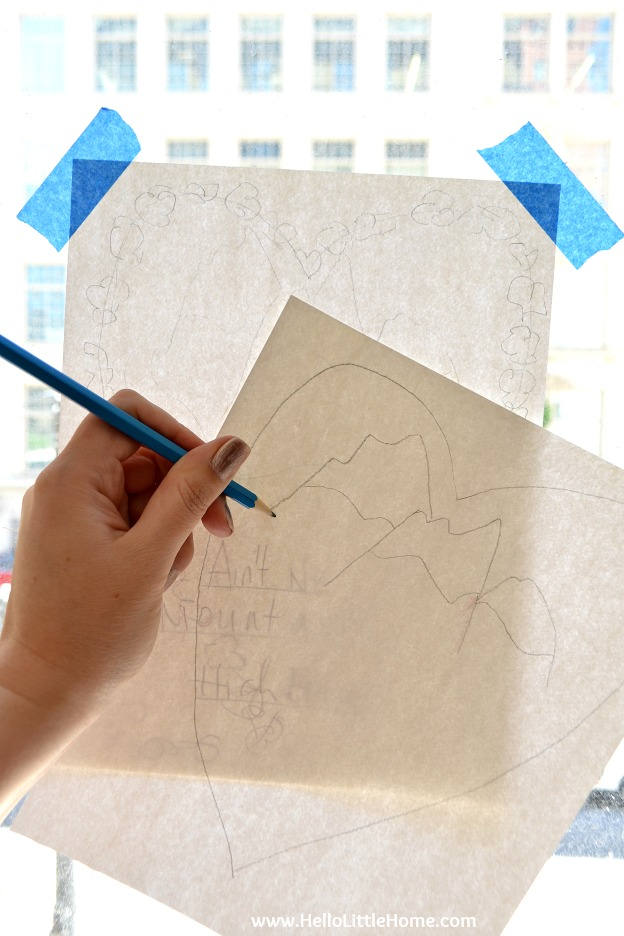 """Learn how to make your own coloring page! Follow my easy step by step tips, and you'll have a custom coloring page that perfect for any event! Plus, get my free coloring page: """"Ain't No Mountain High Enough""""!   Hello Little Home"""