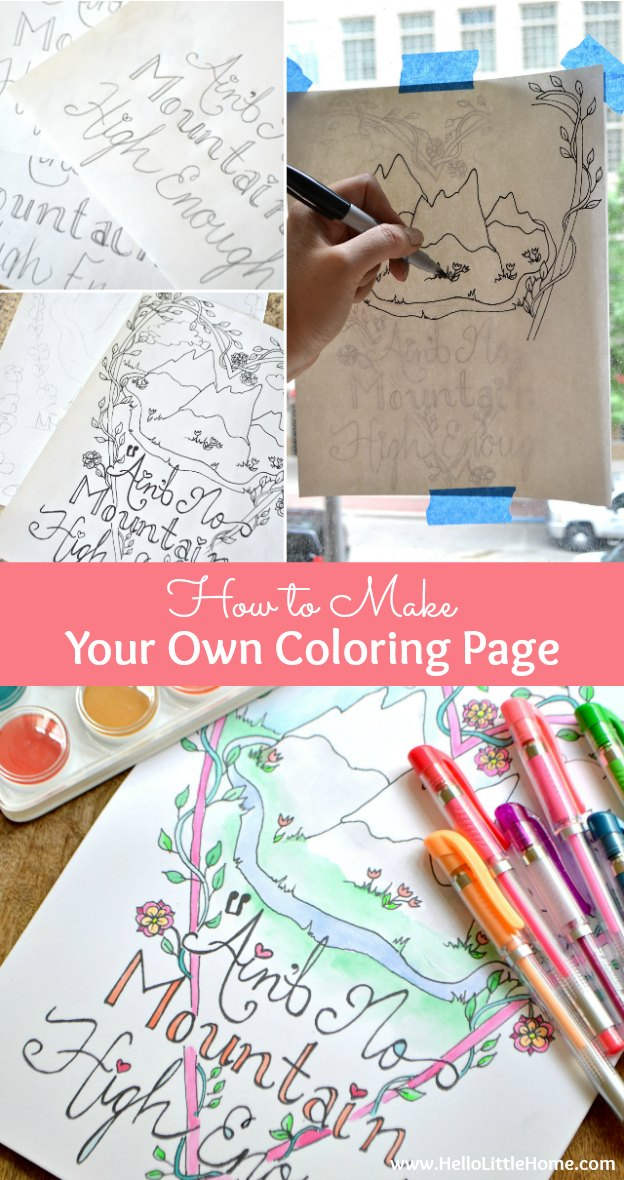 How To Make Your Own Coloring Page 8 Hello Little Home