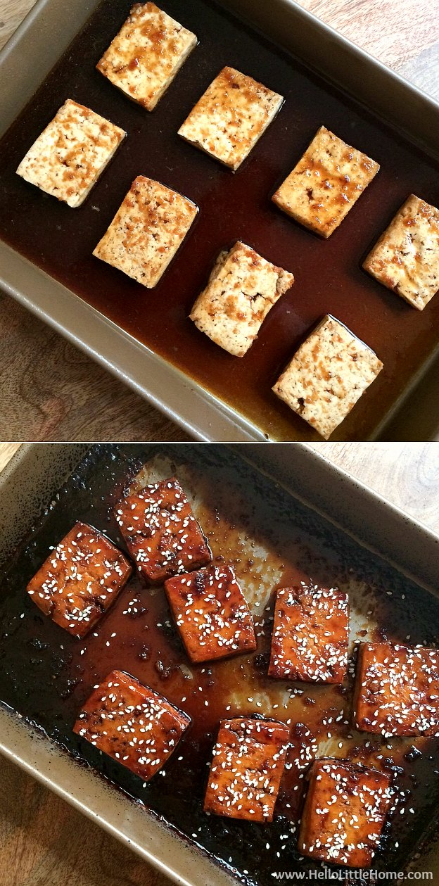 Step by Step instructions for making AMAZING Korean BBQ Tofu Sliders with Kimchi Slaw ... one of the BEST things you'll ever eat! You'll love these sweet and spicy vegetarian sliders, which are full of delicious Korean flavors, yet they're simple to make with easy to find ingredients. Perfect for a summer barbeque, party, or other get together!   Hello Little Home