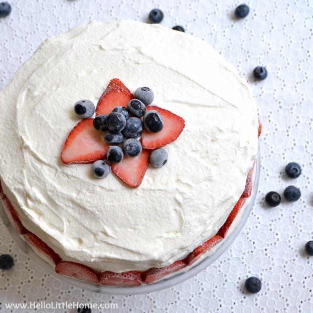 Strawberry Pecan Ice Cream Cake