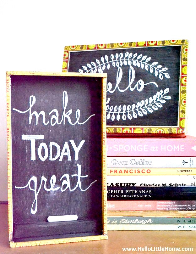 DIY Cigar Box Chalkboards, a fun and easy Cigar Box Craft.