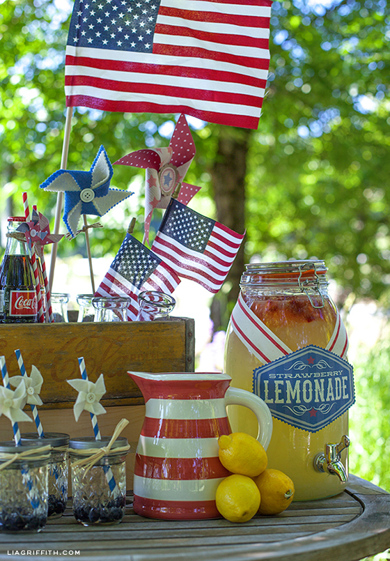 Over 30 Patriotic Recipes, Crafts, and Home Decor Ideas, including this DIY Vintage 4th of July Celebration from Lia Griffith! These fun and easy red, white, and blue ideas are perfect for celebrating every patriotic summer occassion ... 4th of July, Memorial Day, and more!   Hello Little Home