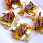 Feta, Pepper, and Olive Bites