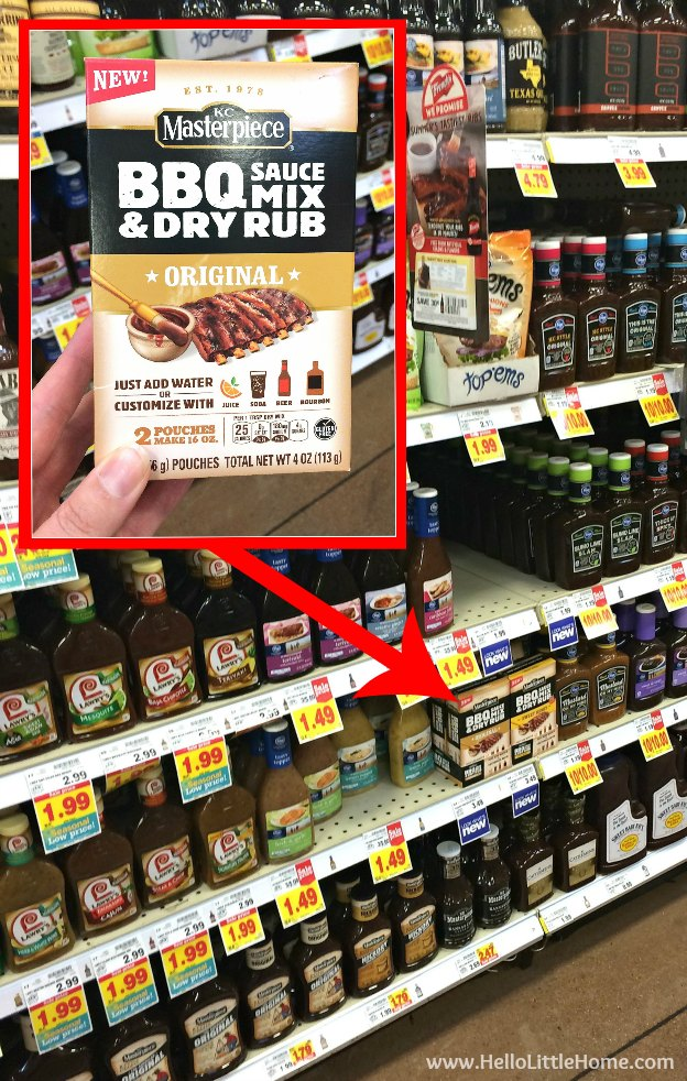 KC Masterpiece® BBQ Sauce Mix and Dry Rub at Kroger ... the key to making these tasty Grilled Portabella Poblano Tacos with Sweet and Spicy BBQ Sauce! | Hello Little Home