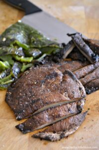 Fire up the grill! Make these delicious Grilled Portabella Poblano Tacos with Sweet and Spicy BBQ Sauce with help from a simple step-by-step recipe; they're perfect for fun and laid back summer entertaining! An easy vegetarian taco recipe, filled with tasty grilled portabella mushrooms, flavorful poblano pepper, and an amazing asian-inspired barbecue sauce that's super easy to make! | Hello Little Home