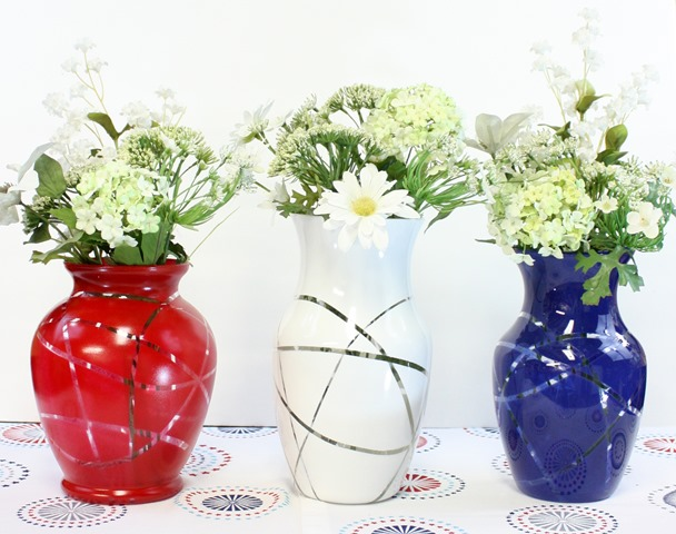 Over 30 Patriotic Recipes, Crafts, and Home Decor Ideas, including this Flower Vase Upcycle from Virginia Sweet Pea! These fun and easy red, white, and blue ideas are perfect for celebrating every patriotic summer occassion ... 4th of July, Memorial Day, and more! | Hello Little Home