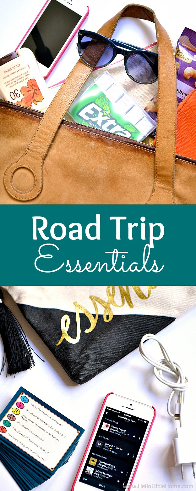 Road Trip Essentials ... this checklist has everything you need to pack in your car - from snacks to maps - to plan an awesome road trip! Tons of travel trips for adults and kids to make the most of your road trip adventure! | Hello Little Home