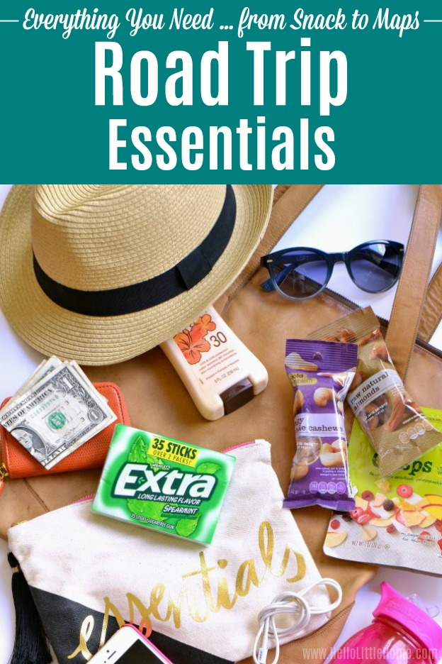 Planning a summer car trip? Don't leave for your summer vacation without these Road Trip Essentials! This road trip guide has the must have car trip necessities for a cross country trip, family vacation, spring break escape, or any road trip. From snacks to maps, these road trip travel tips will help you plan a car trip with teens, kids, or adults! | Hello Little Home #roadtrip #roadtripessentials #cartrip #travel #traveltips #travelguide #vacation #vacationtips #summerfun #summervacation