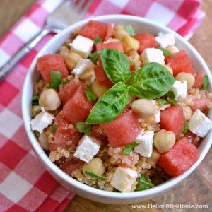 Watermelon Basil Quinoa Salad