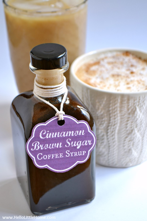 Cinnamon Brown Sugar Coffee Syrup ... one of 100 Vegetarian Game Day Recipes! Get ready for the big game with over 100 vegetarian and vegan appetizers, soups, chilis, main dishes, sandwiches, breakfast, desserts, and more that will make your next football watching party unforgettable! | Hello Little Home