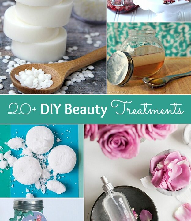 These DIY Beauty Treatments are full of healthy ingredients to soothe your skin, moisturize your hair, and pamper your feet! Give one as a DIY beauty gift to someone special! | Hello Little Home