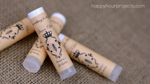 Beeswax Lip Balm from Happy Hour Projects, one of over 20 DIY Beauty Treatments that are full of healthy ingredients to soothe your skin, moisturize your hair, and pamper your feet! Give one as a DIY beauty gift to someone special!   Hello Little Home