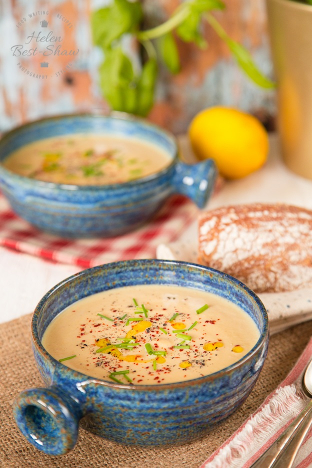 40+ Hearty Vegetarian Soup Recipes, including this Butternut Squash, Tahini, and Lemon Soup from Fuss Free Flavours, that will warm you up this fall and winter! | Hello Little Home
