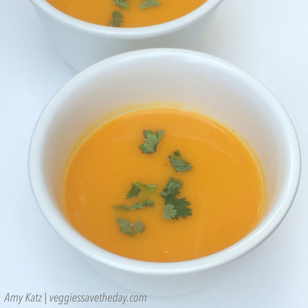 40+ Hearty Vegetarian Soup Recipes, including this Thai-Inspired Butternut Squash Soup from Veggies Save the Day, that will warm you up this fall and winter! | Hello Little Home