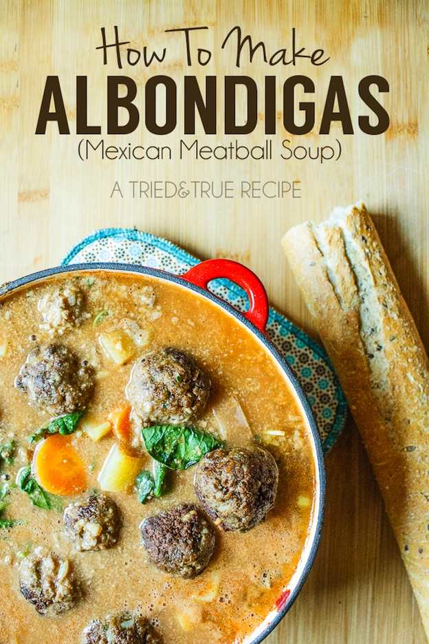 40+ Hearty Vegetarian Soup Recipes, including this Vegetarian Albondigas Soup from Tried & True, that will warm you up this fall and winter! | Hello Little Home