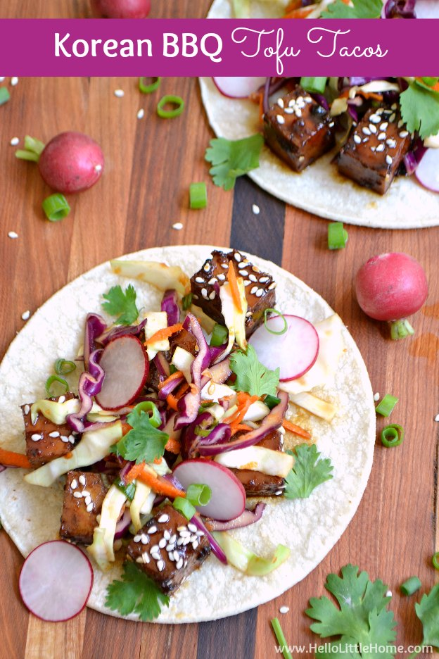 Korean bbq tofu tacos 11g treat yourself to this sweet and spicy korean bbq tofu tacos recipe the flavors in forumfinder Choice Image