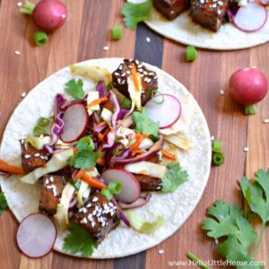 Korean BBQ Tofu Tacos