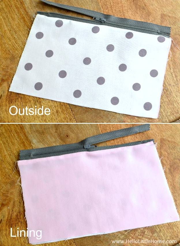 "Step by step tutorial for making a cute ""Like a Boss"" DIY Zipper Pouch! This easy tutorial covers all the steps - from sewing the pouch to making the tassels - plus, learn how to create your own custom design! 