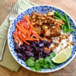 Banh Mi Bowl with Vietnamese Peanut Sauce