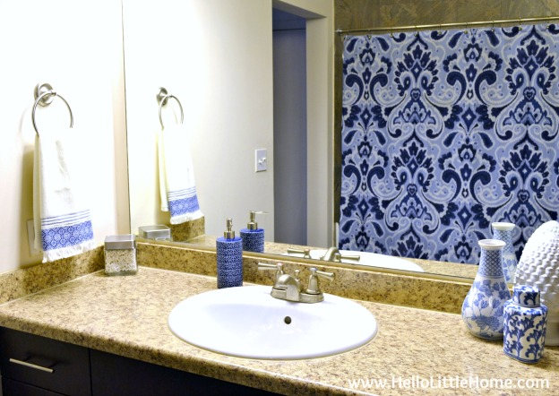 Easy Bathroom Refresh ... get my easy and affordable tips and tricks for giving your boring bathroom a makeover! | Hello Little Home