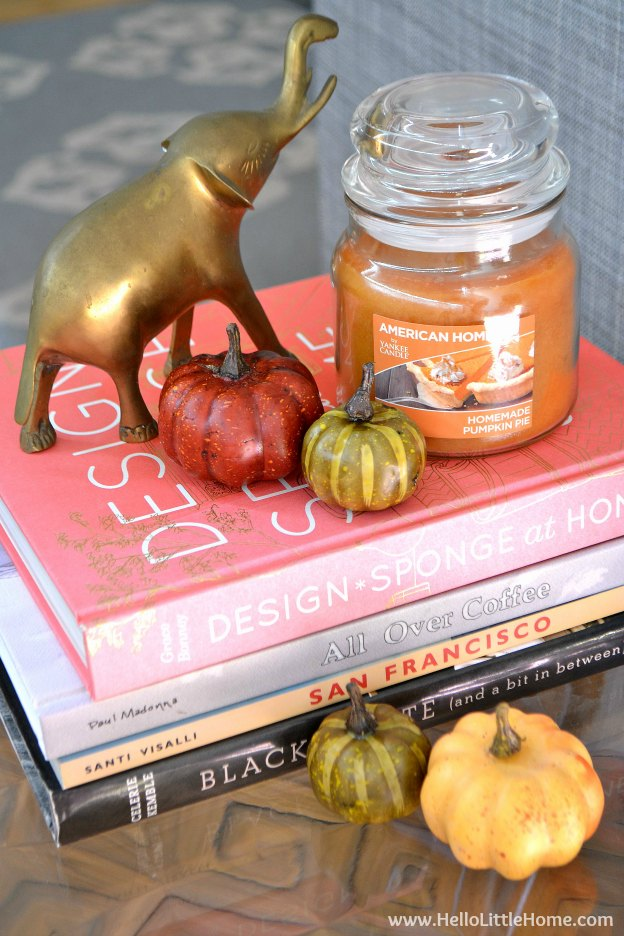 Easy and wonderful smelling fall vignette! | Hello Little Home