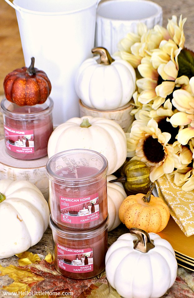 Supplies for the fall inspired tablescape.